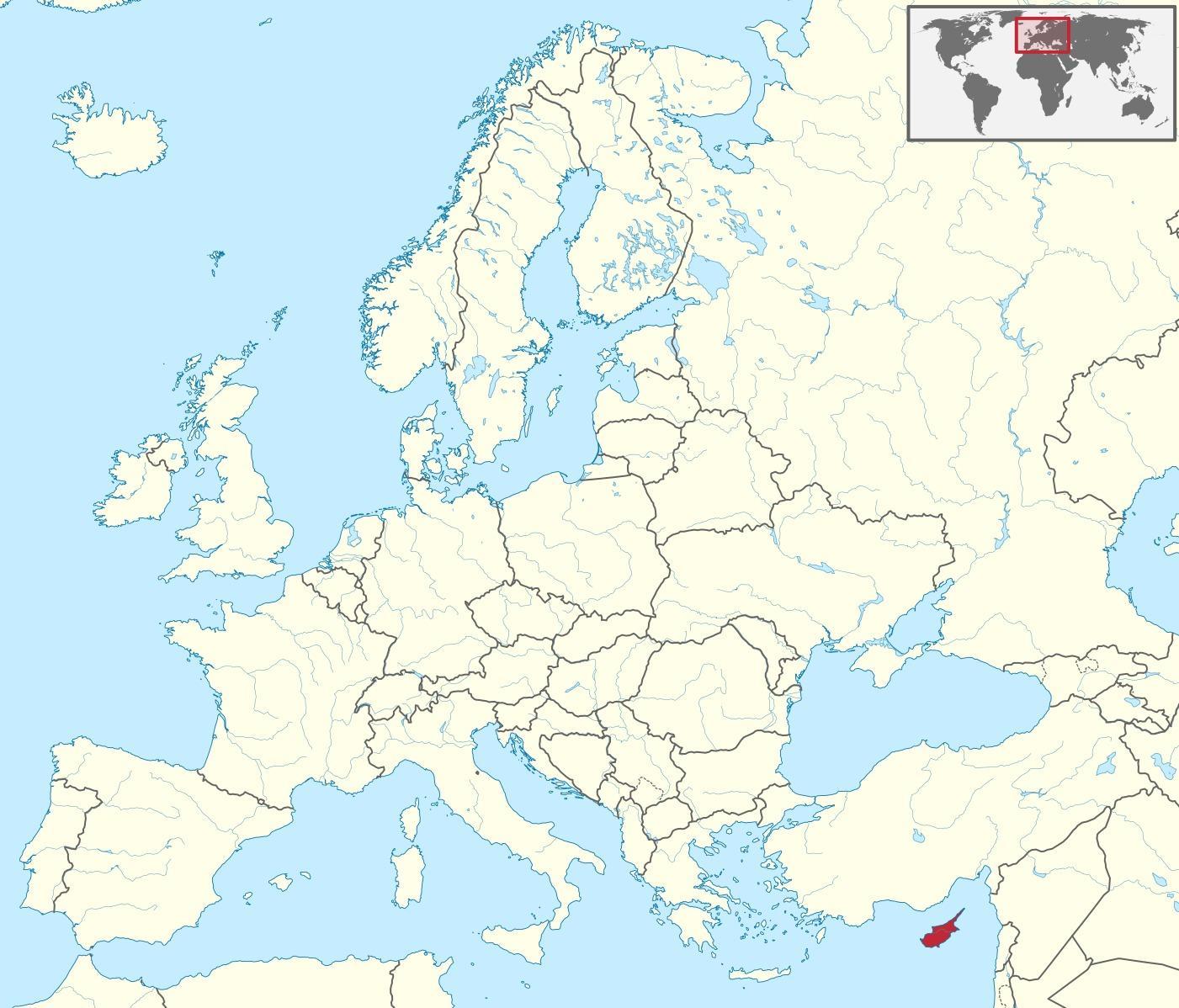 kipar mapa Kipar u svijetu mapu   Kipar mapa na svijetu (Južnoj Europi   Evropi) kipar mapa