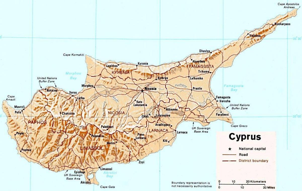Kipar Mapa Puteva Kipar Karta Online Juznoj Europi Evropi