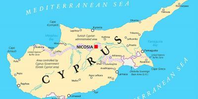 Kipar Mapu Mape Kipar Juznoj Europi Evropi